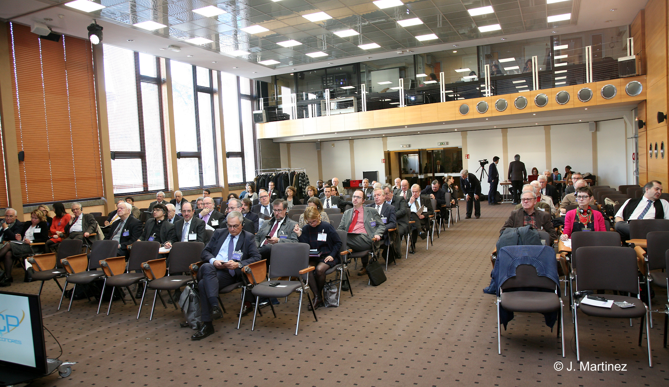 View of the conference audience