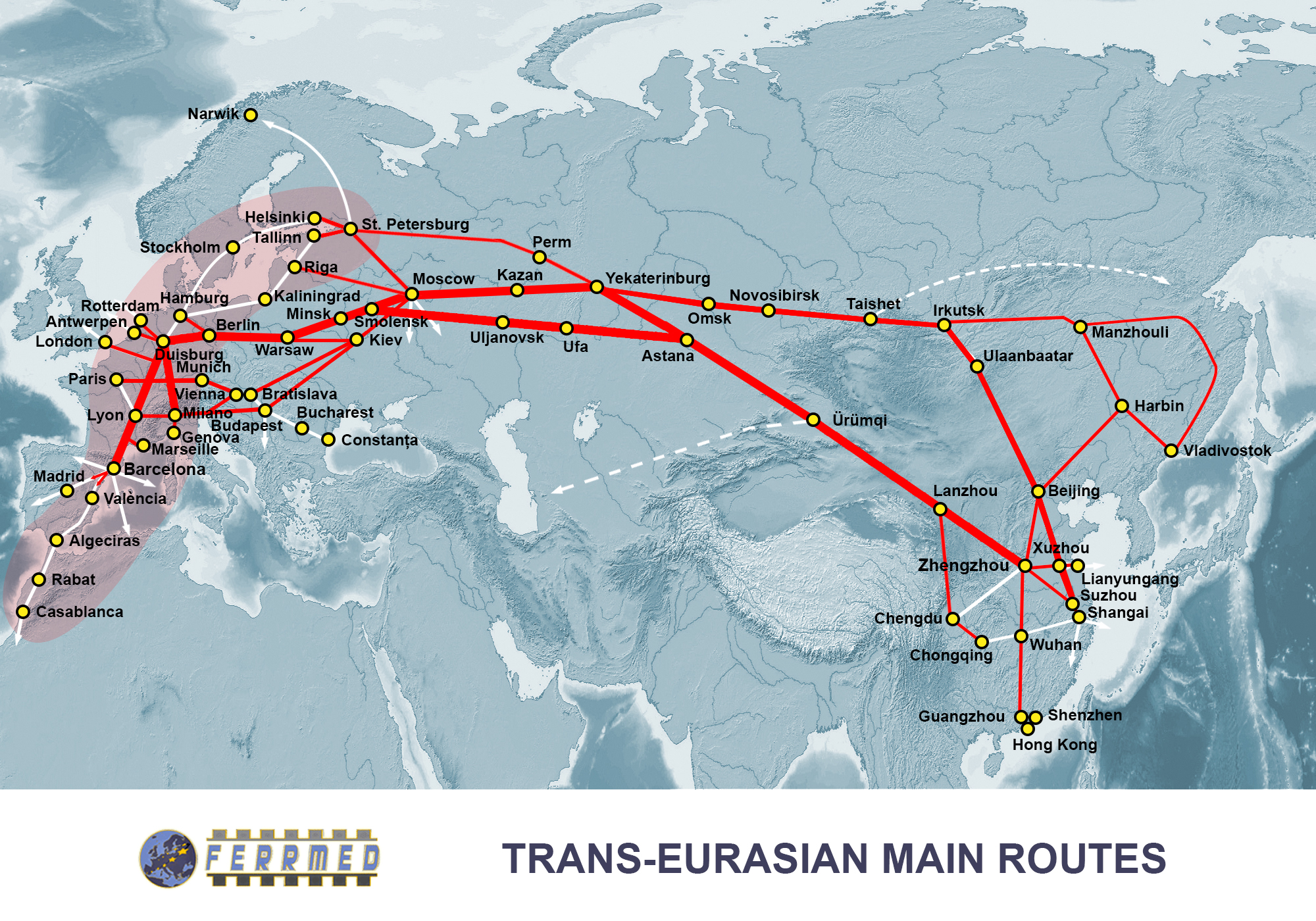 Trans Eurasian Main Routes